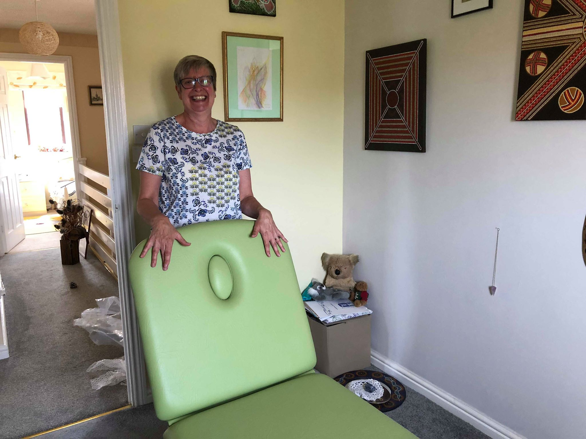 Julie, Needham Market, with her new SEERS Couch